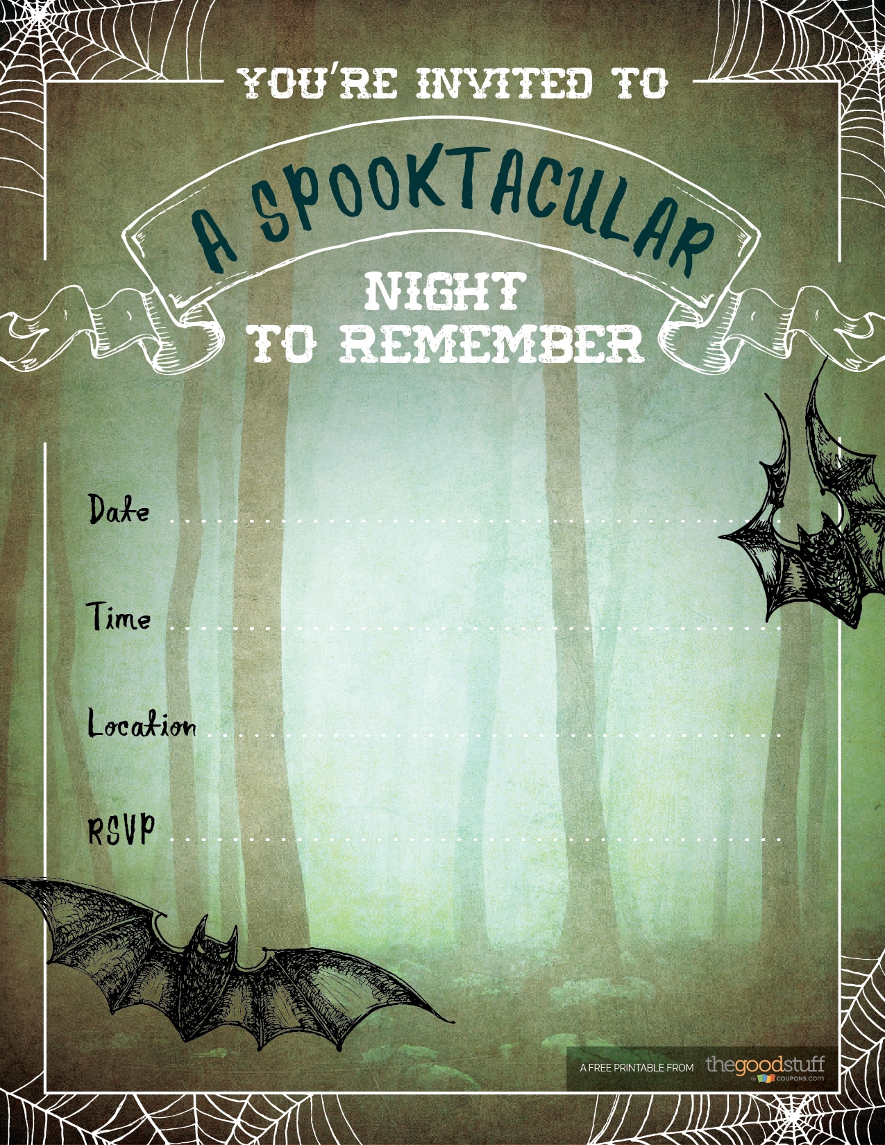 6 Free Halloween Printables for Your Halloween Party - thegoodstuff