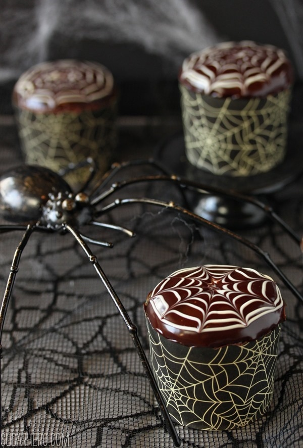 12 Halloween Cupcakes You'll Be Too Scared to Eat!: Spiderweb Cupcakes | thegoodstuff