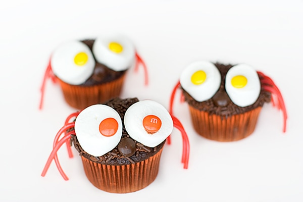 12 Halloween Cupcakes You'll Be Too Scared to Eat!: Spider Cupcakes   thegoodstuff