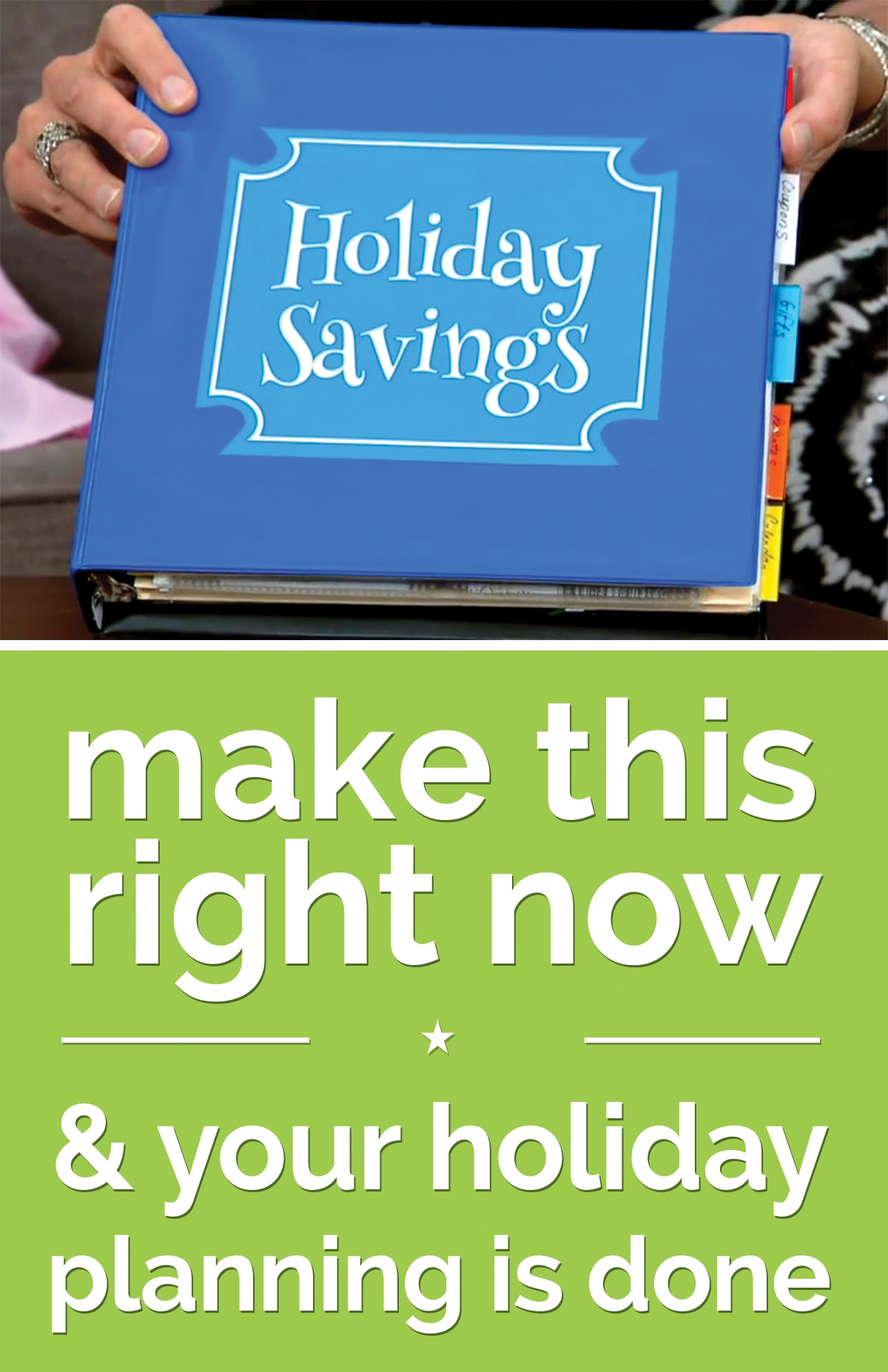 Make This Right Now & Your Holiday Planning is Done | thegoodstuff