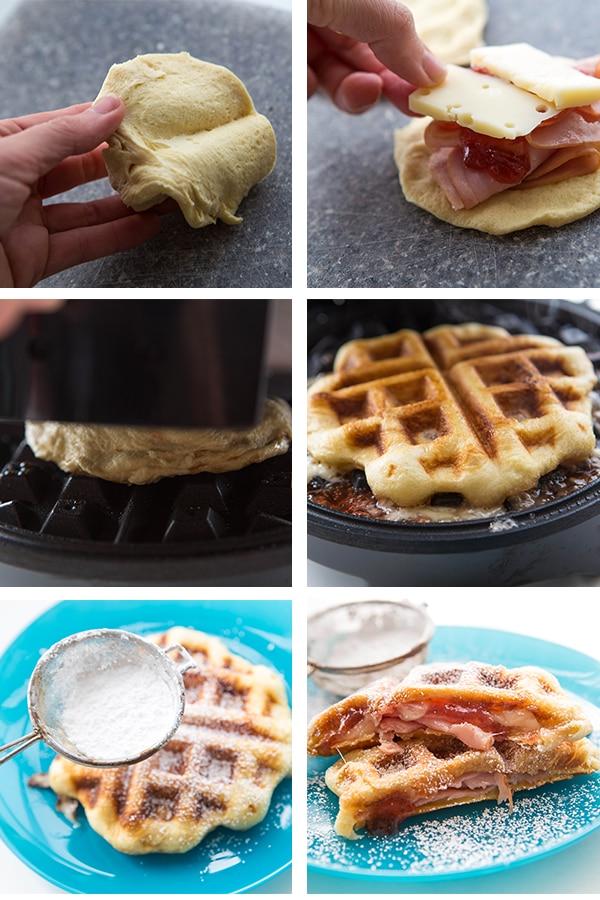 Waffle Iron Recipes for Kids: Monte Cristo Sandwich