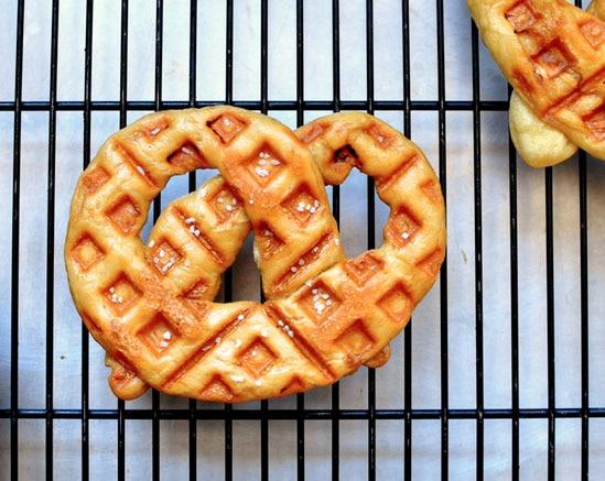 Waffle Iron Recipes for Kids: Pretzel Waffles