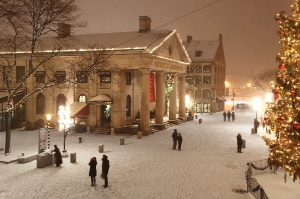 Boston Winter Quincy Market