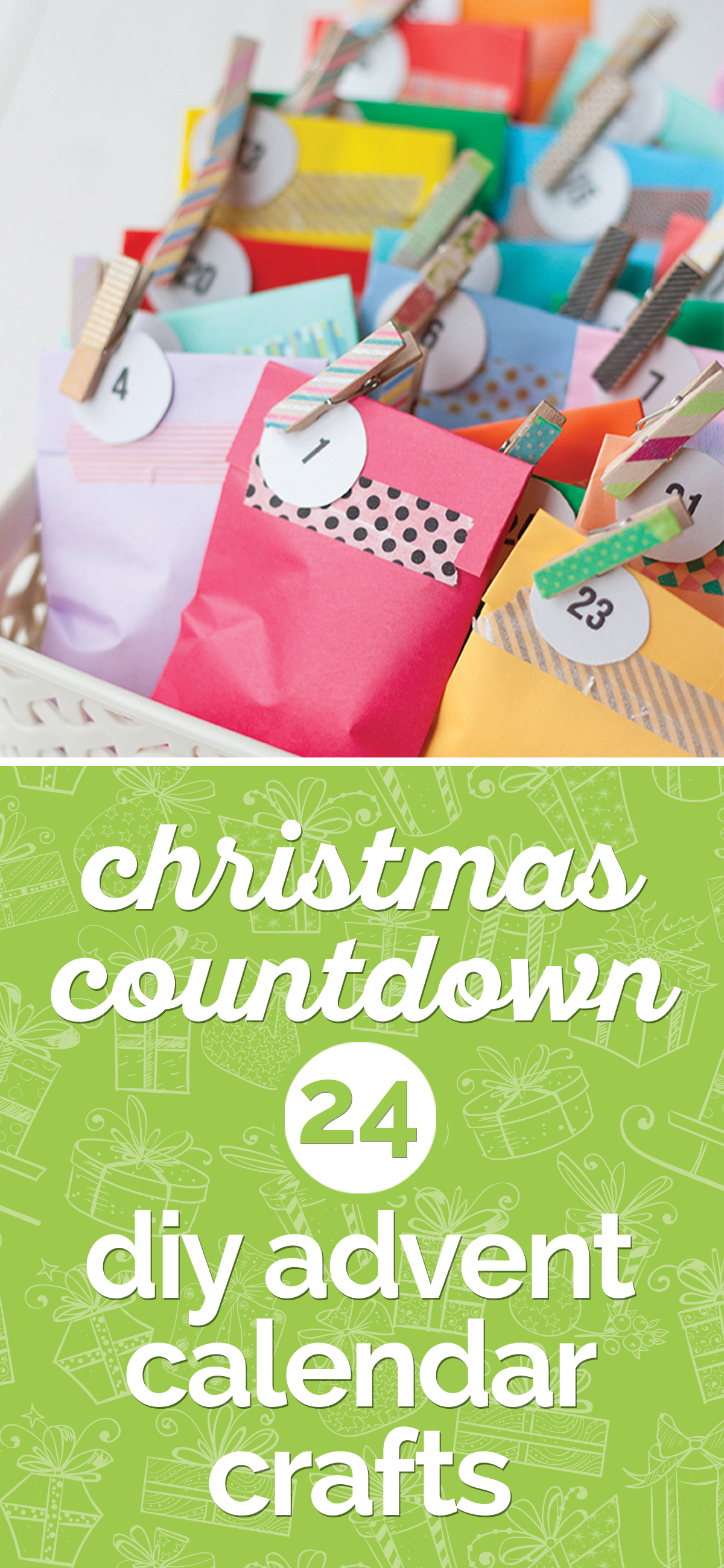 Christmas Countdown: 24 DIY Advent Calendar Crafts | thegoodstuff