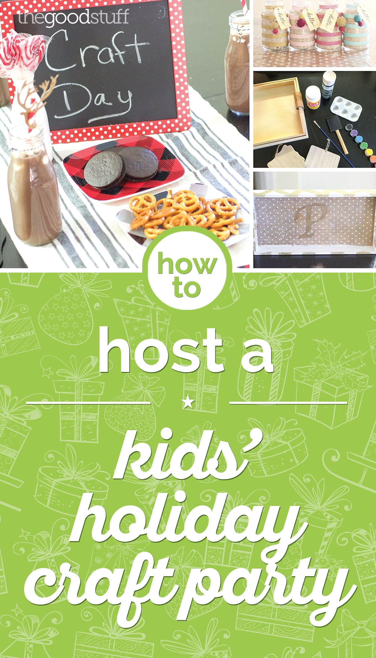How to Host a Kids' Holiday Craft Party | thegoodstuff