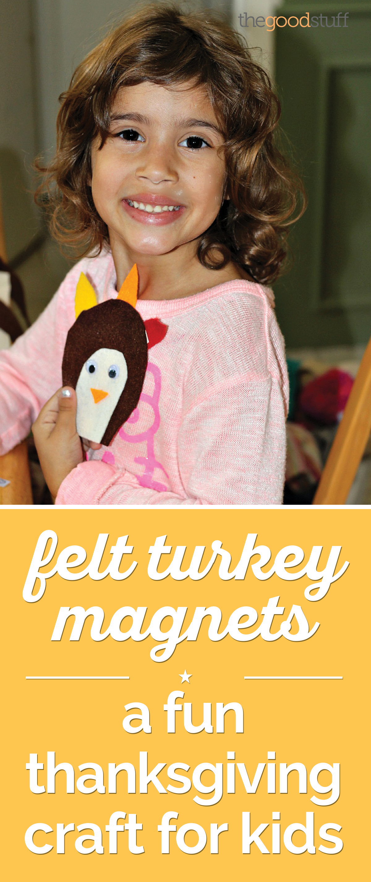 Felt Turkey Magnets: A Fun Thanksgiving Craft for Kids | thegoodstuff