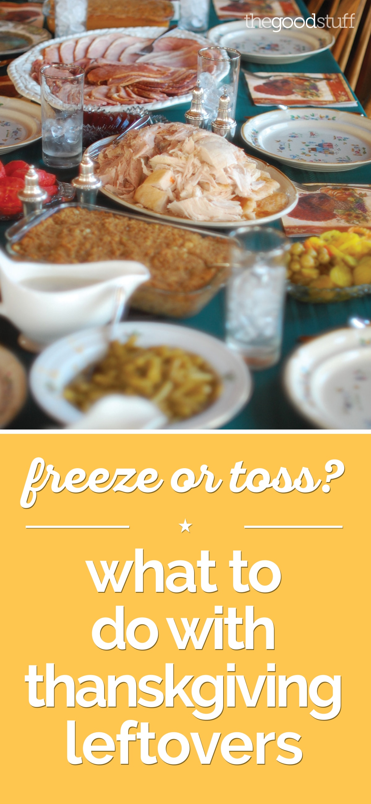 Freeze or Toss? What to Do With Thanksgiving Leftovers | thegoodstuff