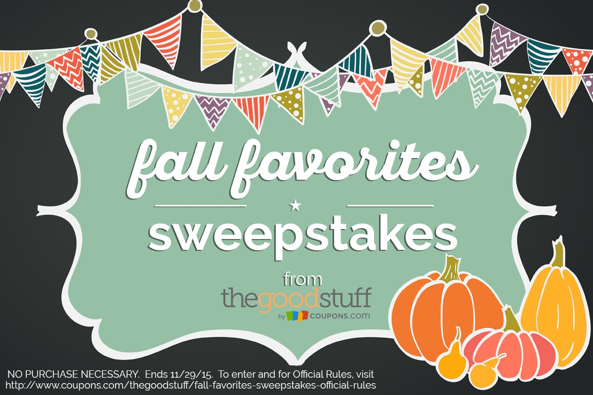 Enter The Good Stuff's Fall Favorites Sweepstakes | thegoodstuff