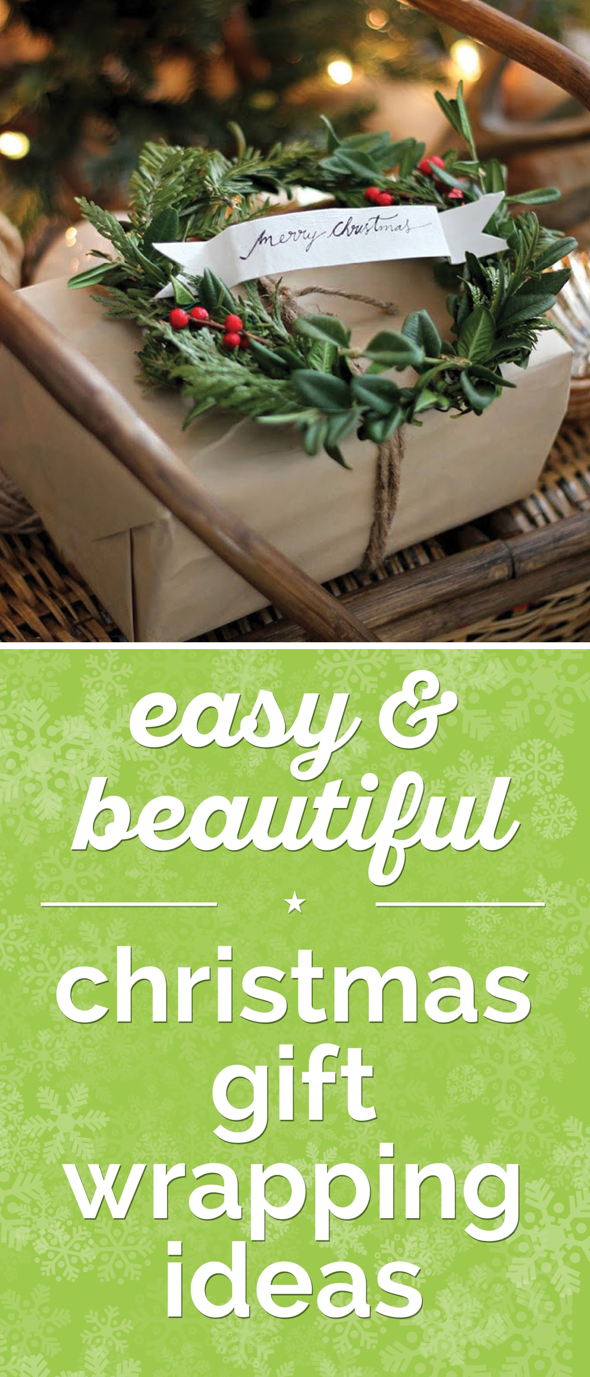 65+ Easy & Beautiful Christmas Gift Wrapping Ideas | thegoodstuff