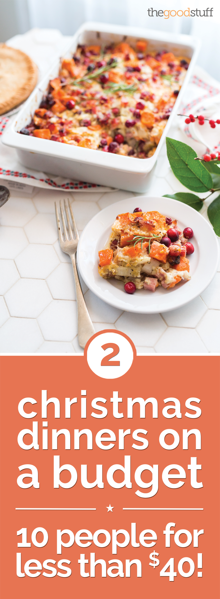 2 Christmas Dinners on a Budget: 10 People for Less Than $40! | thegoodstuff