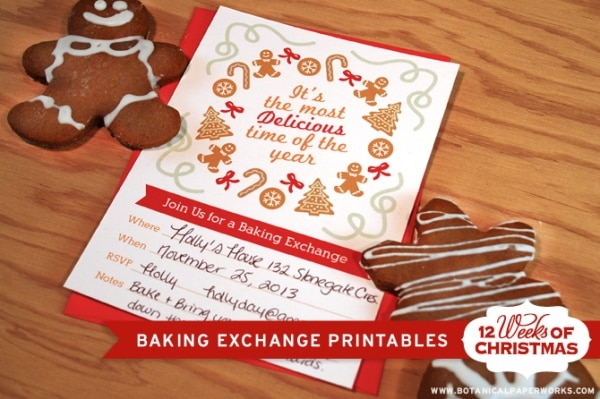 Holiday Cookie Exchange Ideas: Printable Invitations | thegoodstuff
