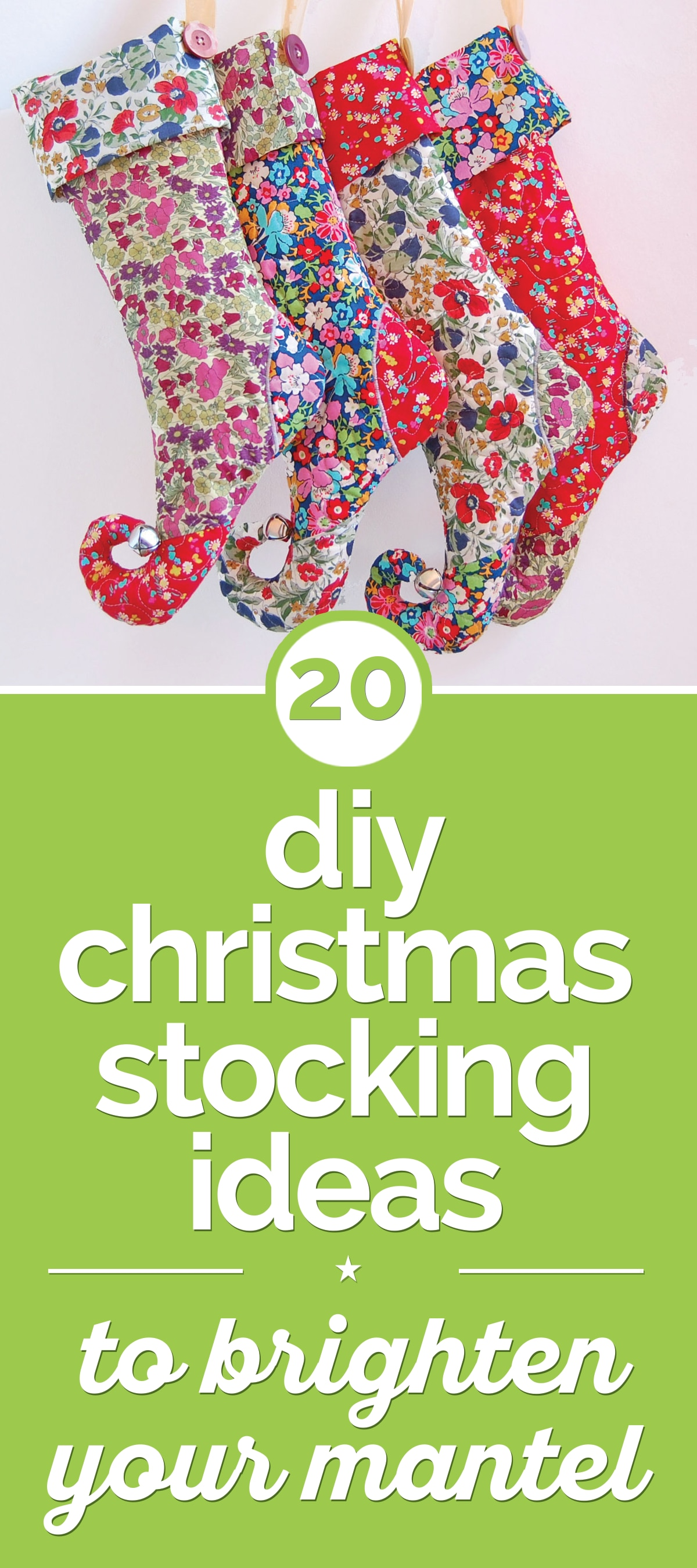 20 DIY Christmas Stocking Ideas to Brighten Your Mantel | thegoodstuff
