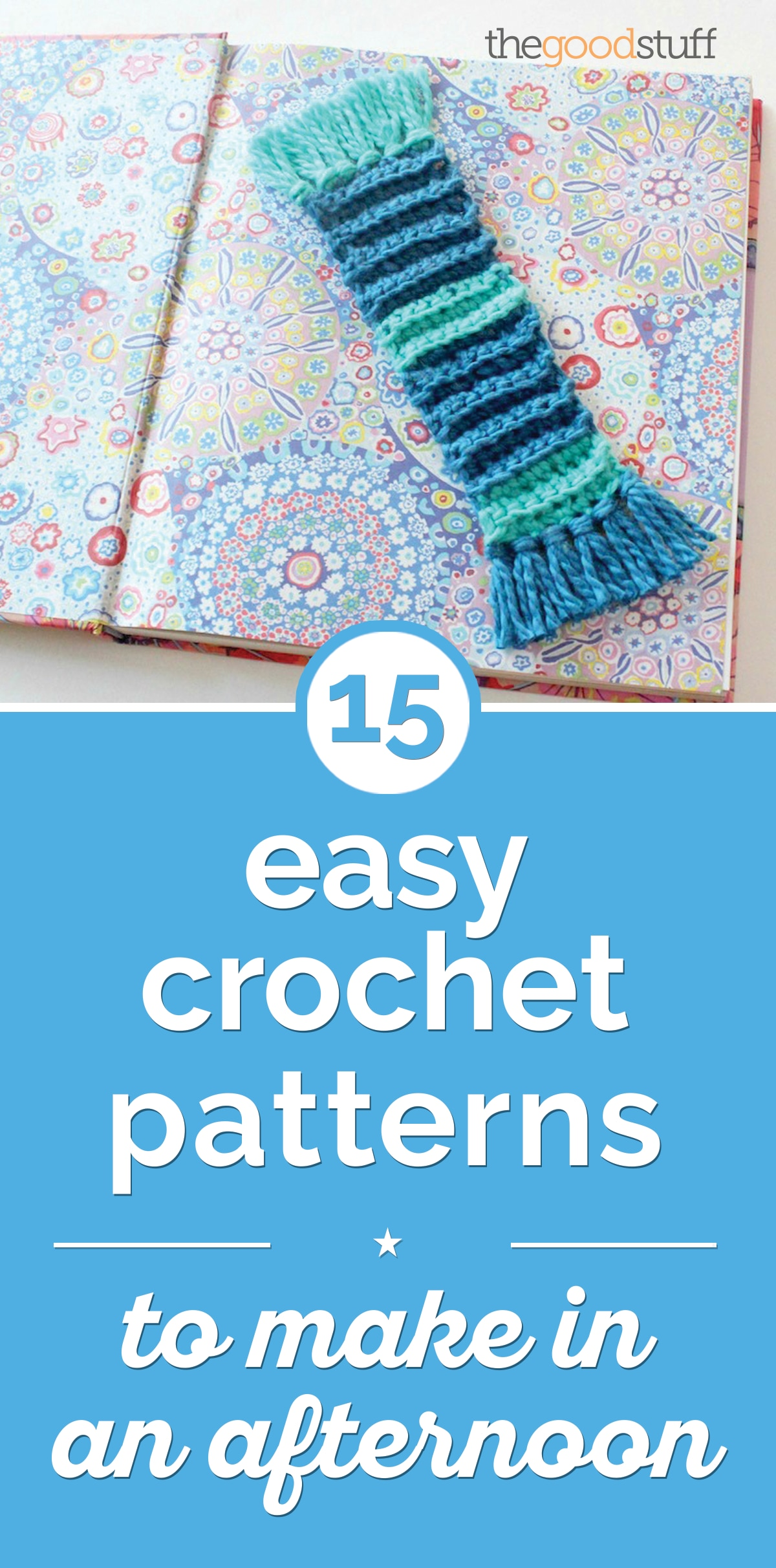 15 Easy Crochet Patterns to Make in an Afternoon | thegoodstuff