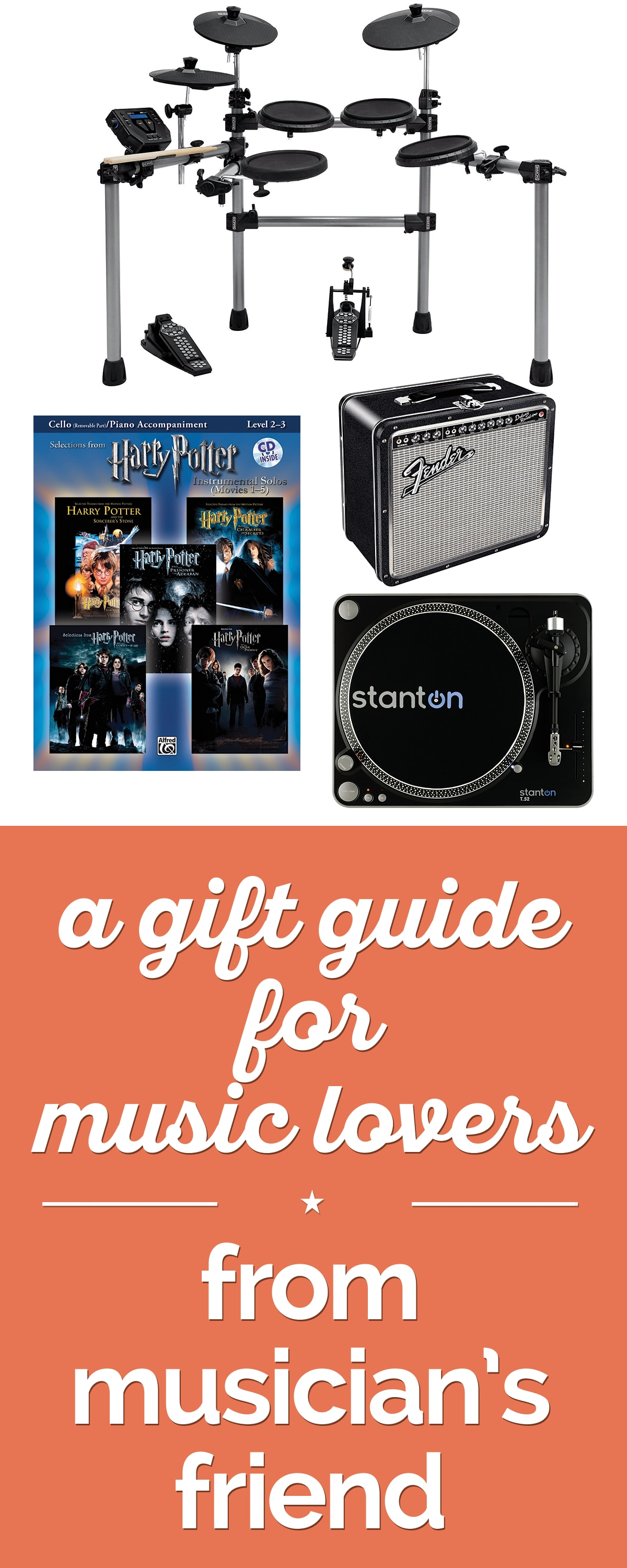 A Gift Guide for Music Lovers from Musician's Friend | thegoodstuff