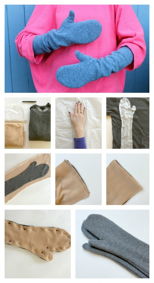 10 Inexpensive DIY Christmas Gifts: Cashmere Mittens | thegoodstuff