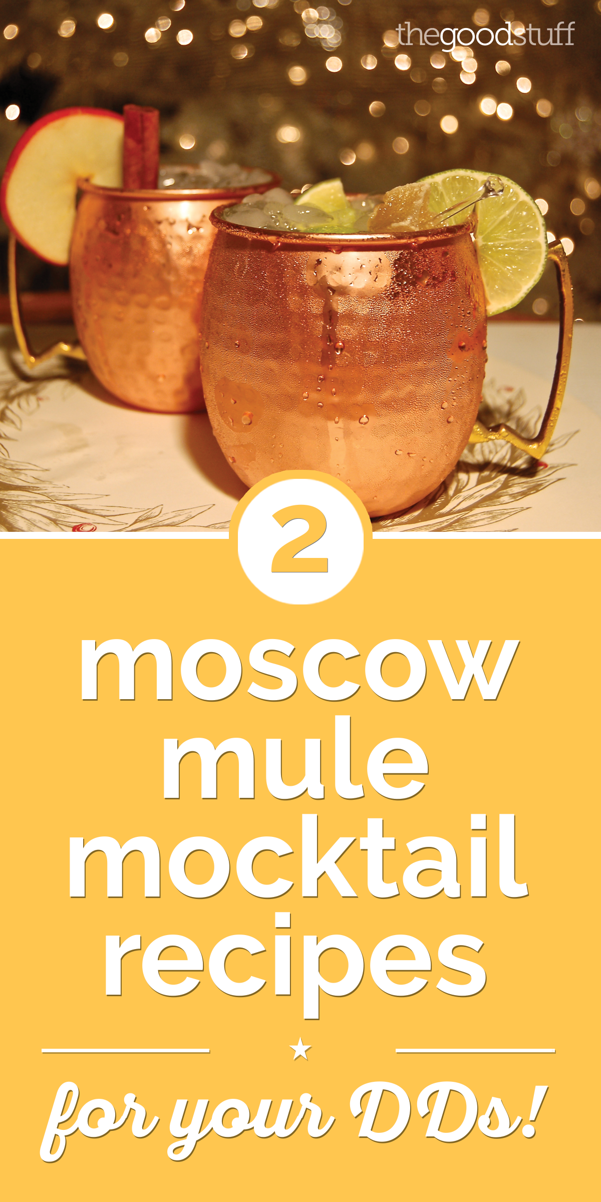 2 Moscow Mule Mocktail Recipes for Your DDs! | thegoodstuff