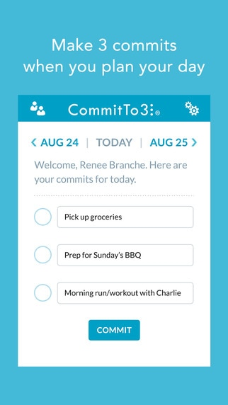 A New Year's Resolution App: CommitTo3 | thegoodstuff