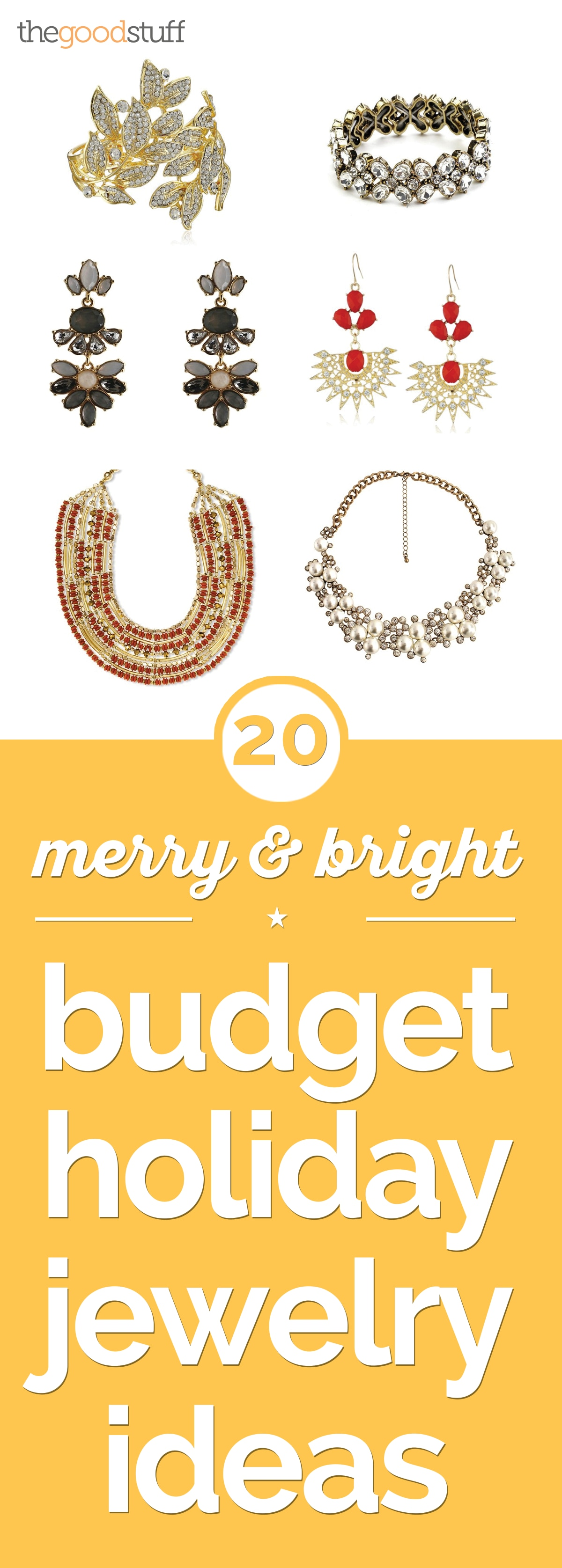 20 Merry & Bright Budget Holiday Jewelry Ideas | thegoodstuff