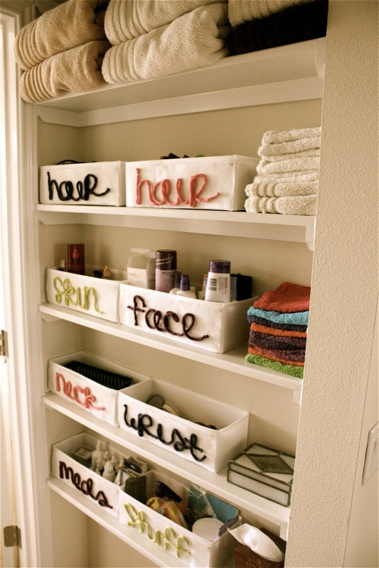 Bathroom Organizing Ideas how to organize your bathroom in a weekend or less - thegoodstuff