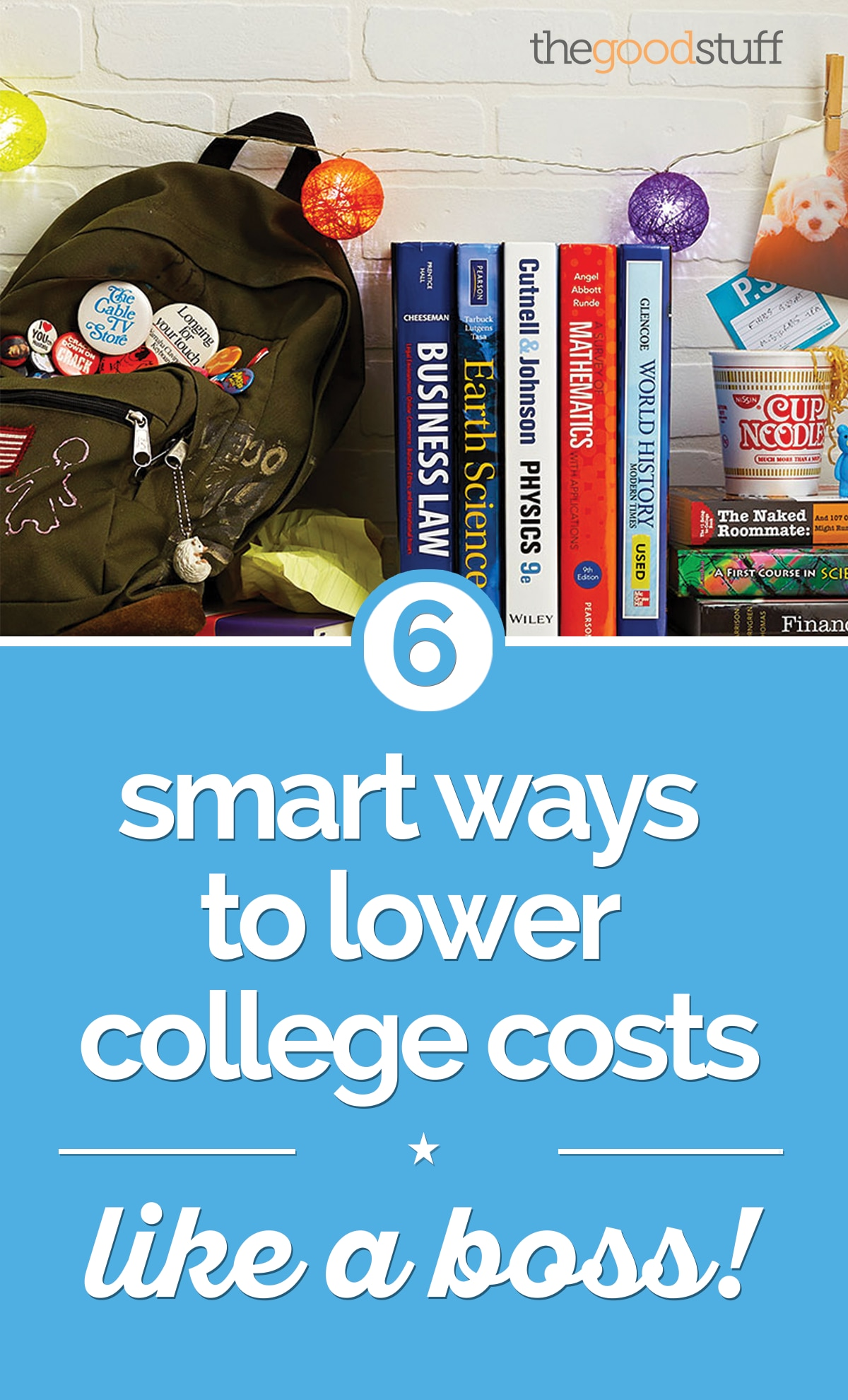 6 Smart Ways to Lower College Costs — Like a Boss! | thegoodstuff