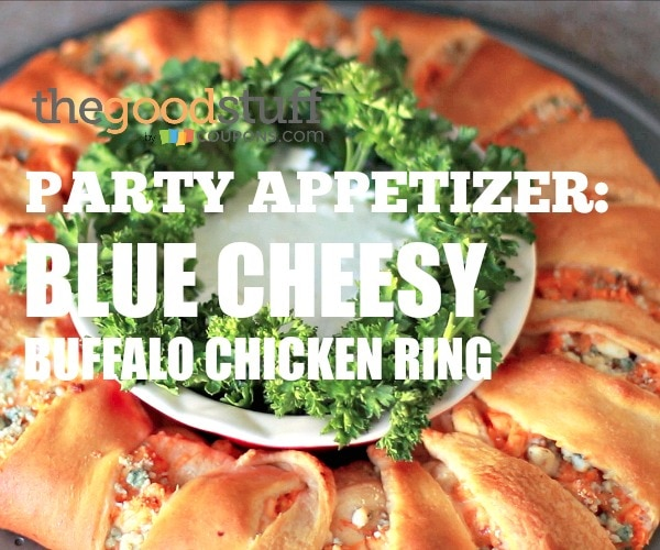 Easy Party Recipe: Blue Cheesy Buffalo Chicken Ring [VIDEO] | thegoodstuff