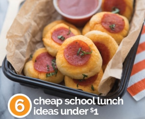 6 Cheap School Lunch Ideas Under $1