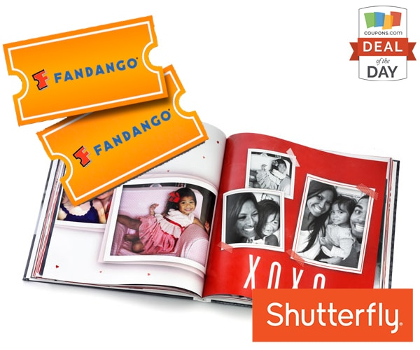 Deal of the Day: $20 Shutterfly Credit with A Movie Ticket Purchase | thegoodstuff