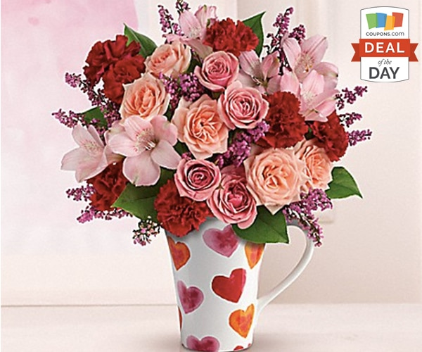 Deal of the Day: Valentines Flowers Free Delivery from Teleflora | thegoodstuff