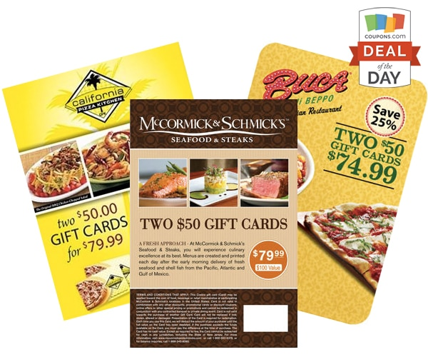 California Pizza Kitchen U2014 2 $50 Gift Cards For $79.99 (20% Discount)