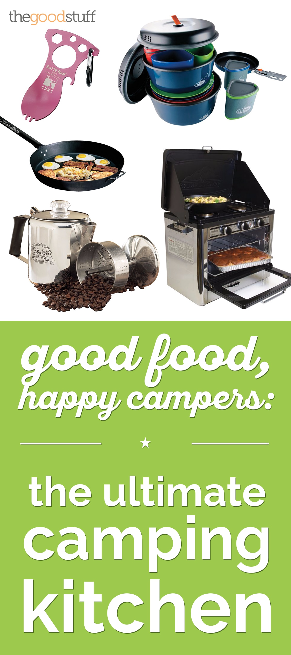 Good Food, Happy Campers: The Ultimate Camping Kitchen | thegoodstuff