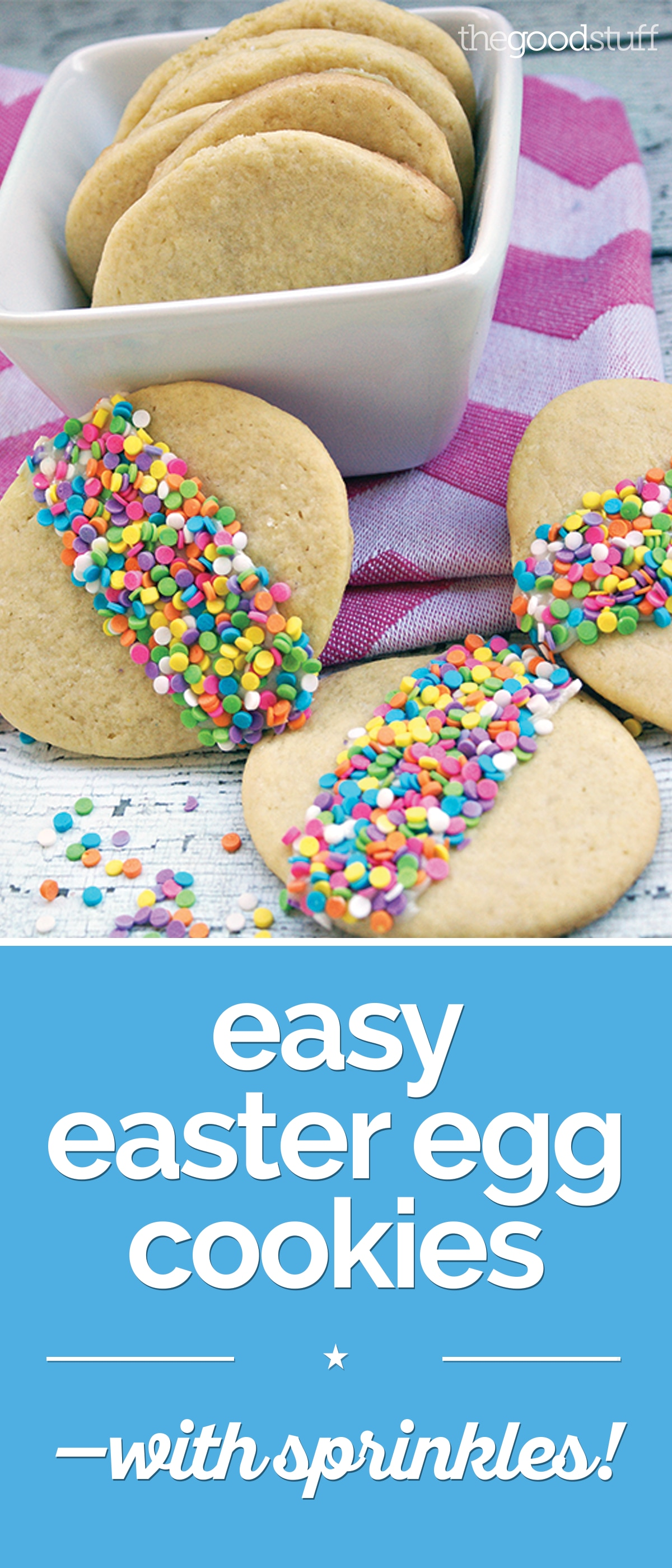 Easy Easter Egg Cookies — with Sprinkles! | thegoodstuff