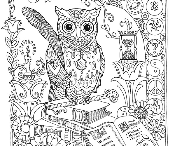 owl coloring pages - Coloring Page Elephant Design