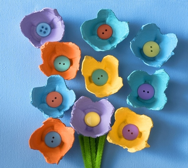 10 joyful crafts for preschoolers diy experience Egg carton flowers ideas