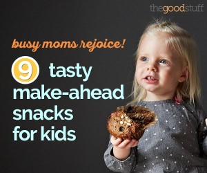 Busy Moms Rejoice! 9 Tasty Make-Ahead Snacks for Kids | thegoodstuff