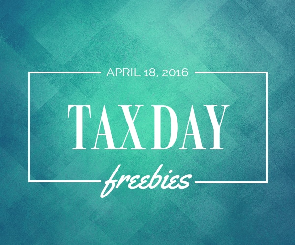 Put Your Mind at Ease With Tax Day Freebies & Sales | thegoodstuff