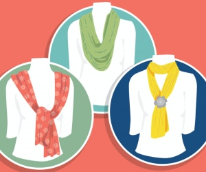 Easy Fashion: How to Tie a Scarf | thegoodstuff
