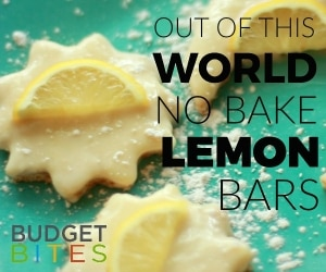 Budget Bites: Out of This World No-Bake Lemon Bars Recipe | thegoodstuff