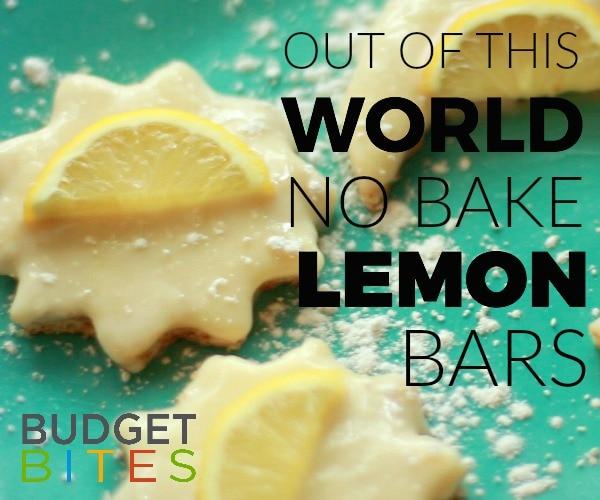 Budget Bites: Out of This World No-Bake Lemon Bars Recipe | thegoodstuff
