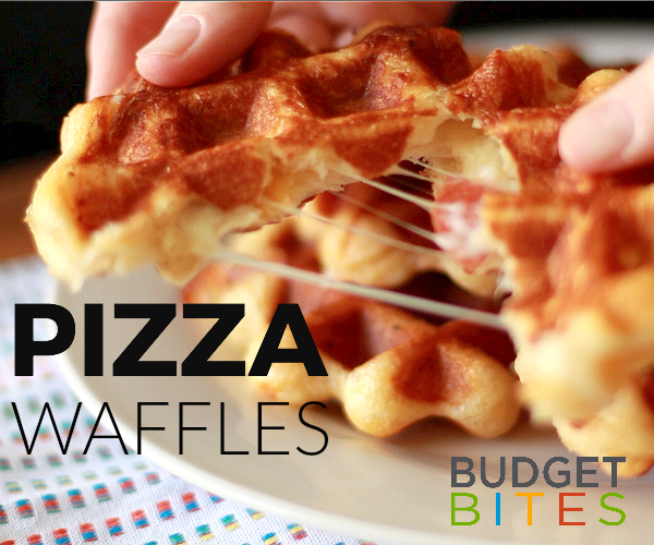 Budget Bites: Pepperoni Pizza Waffles Recipe | thegoodstuff