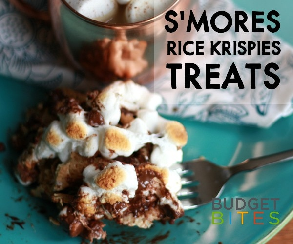 Budget Bites: Melt-In-Your-Mouth S'mores Rice Krispies® Treats | thegoodstuff