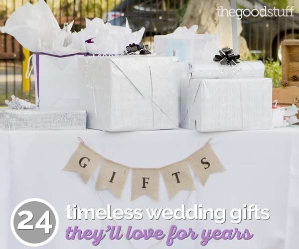 24 Timeless Wedding Gifts They'll Love For Years | thegoodstuff