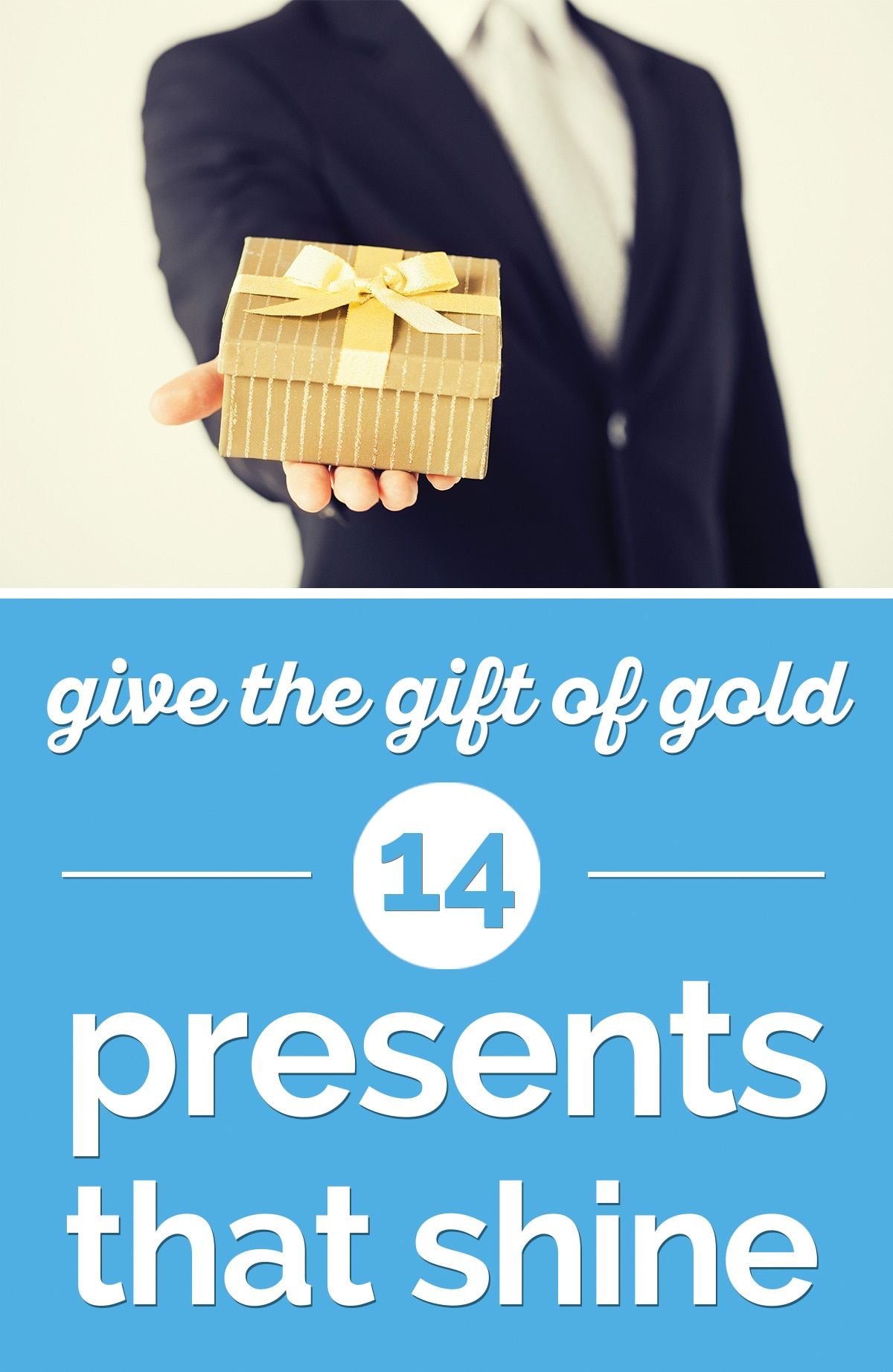 Give the Gift of Gold: 14 Gold Gifts that Shine | thegoodstuff