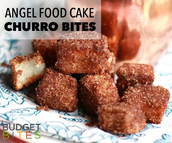 Budget Bites: Flavor-Packed Angel Food Cake Churro Bites | thegoodstuff