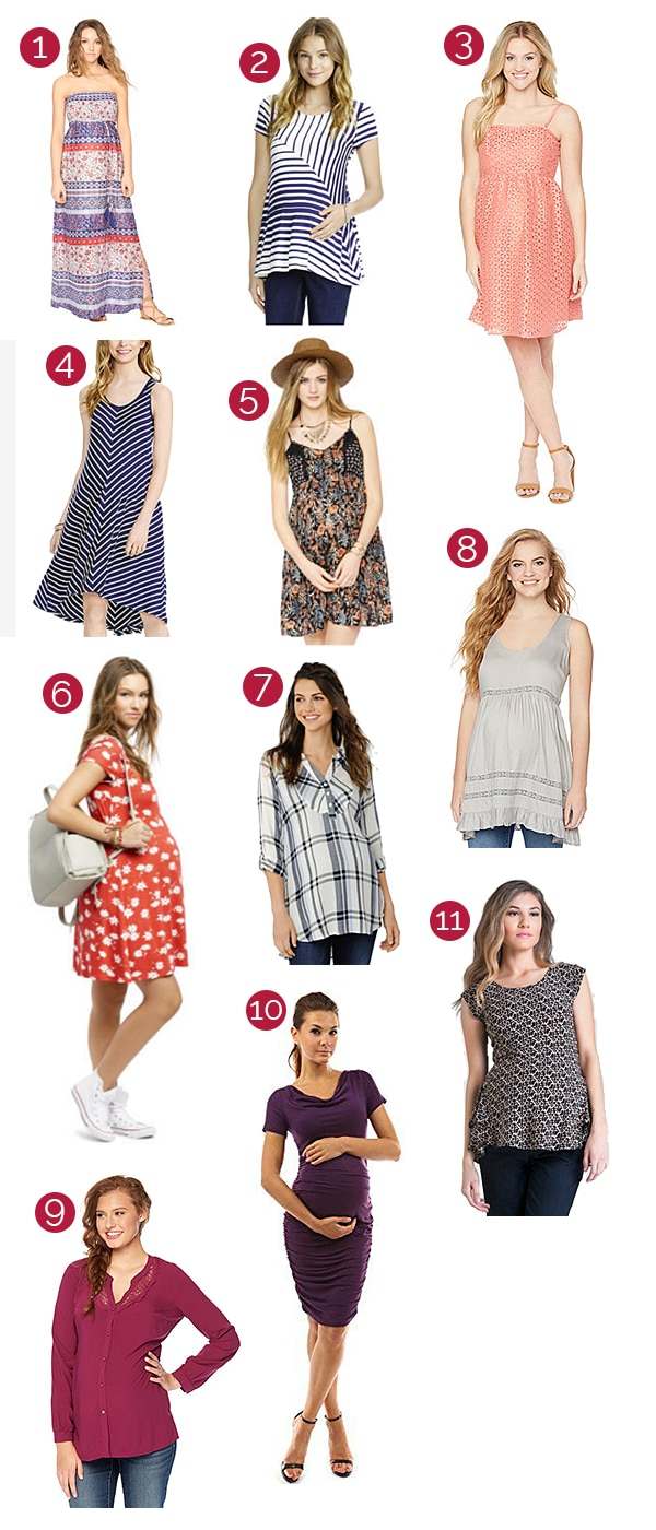 30 Easy, Breezy & Budget Maternity Dresses & Tops for Summer | thegoodstuff