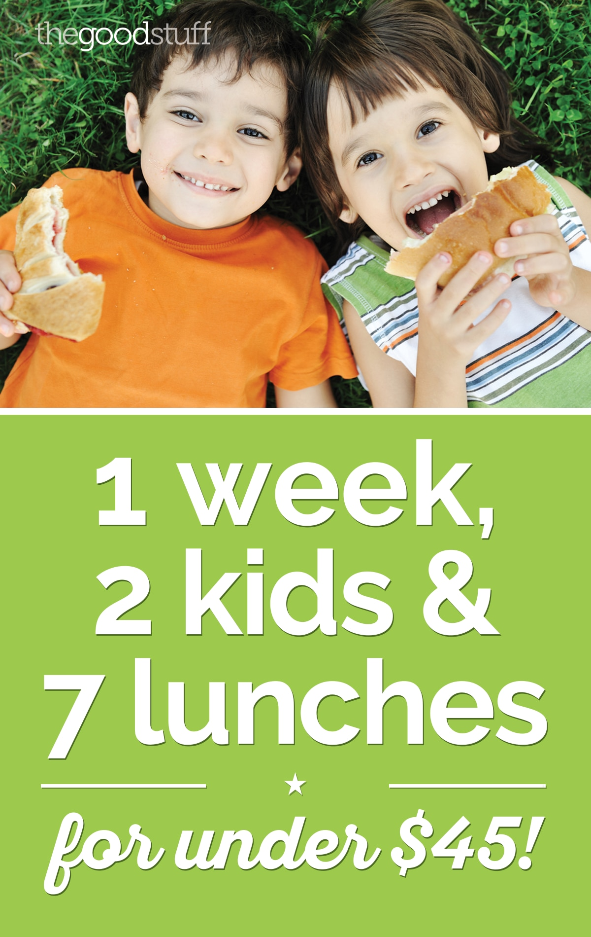 1 Week, 2 Kids & 7 Lunches for Under $45! | thegoodstuff