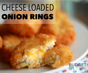 Budget Bites: Dad's Favorite Cheese-Stuffed Onion Rings Recipe | thegoodstuff