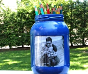 How to Make a Custom DIY Pencil Holder for Father's Day | thegoodstuff