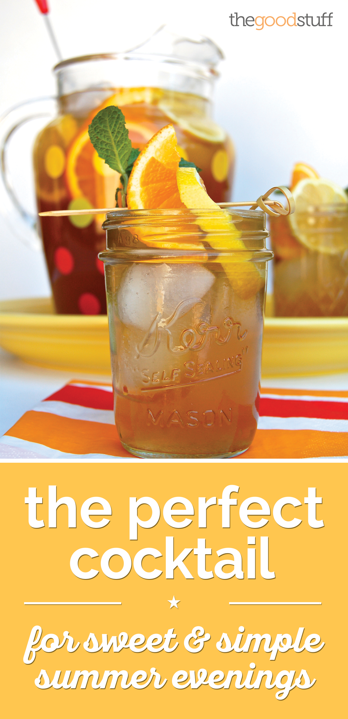 The Perfect Cocktail for Sweet & Simple Summer Evenings | thegoodstuff