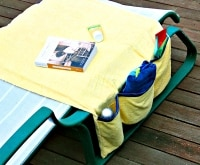 Carry All Your Swim Gear in this DIY Poolside Organizer | thegoodstuff