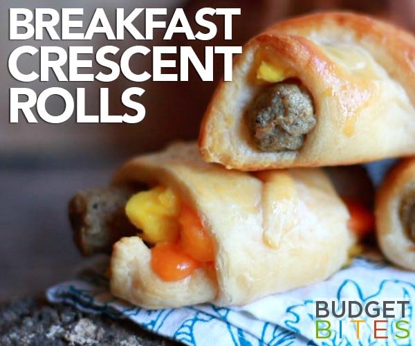 Grab-n'-Go Breakfast Crescent Rolls Recipe [Video] | thegoodstuff